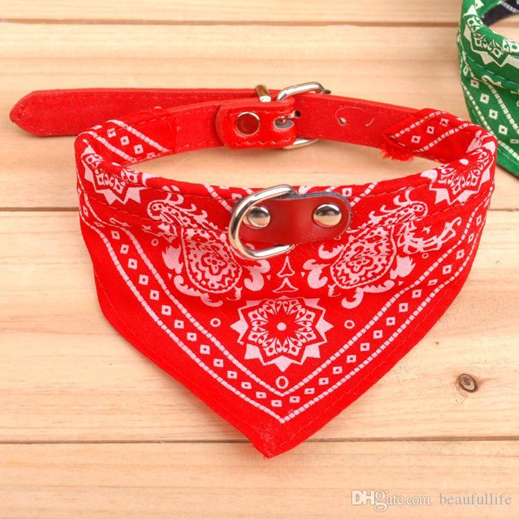 Collar cani conduttore regolabile Pet Dog Cat Sciarpa Bandana Collars Collars Collars Brand New Mix Colors Collari cani