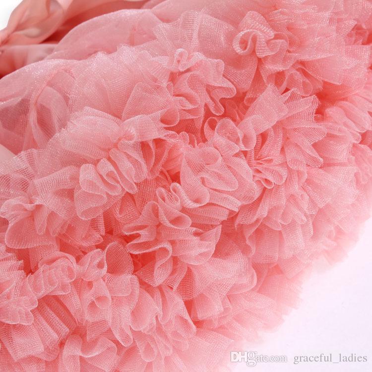 Goedkope korte bruidsmeisje jurk tutu rok puffy party jurken 20 kleuren handgemaakte elastische lint boog junior meisjes tutu rokken voor volwassen xl