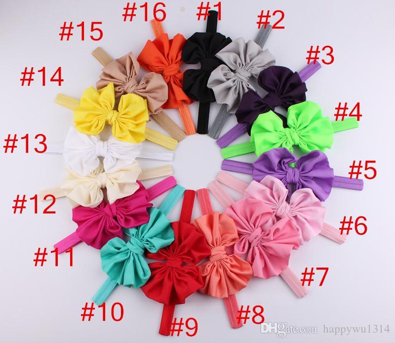 Fashion Infant Hair Bow Flower Headbands Baby Chiffon Bow Knot Headband for Girls Handmade Elastic Hairbands Childrens Classic Tiara Hor