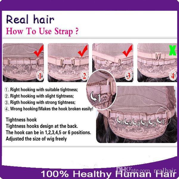 Parrucche piene del pizzo dei capelli umani non trasformati al 100% / parrucche anteriori del pizzo con i capelli del bambino 8a parrucca umana brasiliana dell'onda allentata le donne nere