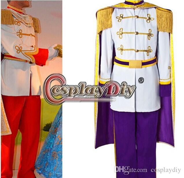 custom made cinderella prince charming purple costume uniform suit outfit adult mens halloween cosplay costume for men - Prince Charming Halloween Costumes