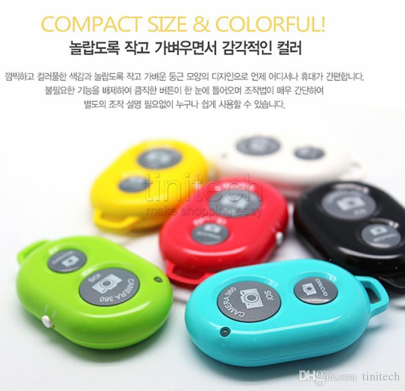 Promotion sans fil Bluetooth contrôle à distance caméra de l'obturateur Shutte retardateur pour iPhone ios iPad Samsung HTC LG téléphone Android