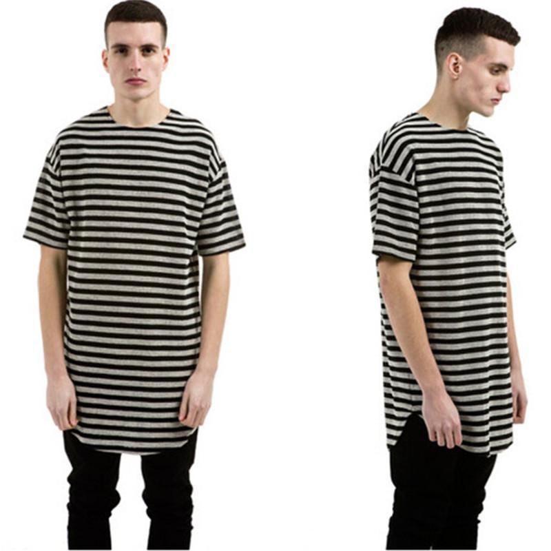 Fashion Swag Striped Shirt Men Strip Pattern 100% Cotton Mens ...