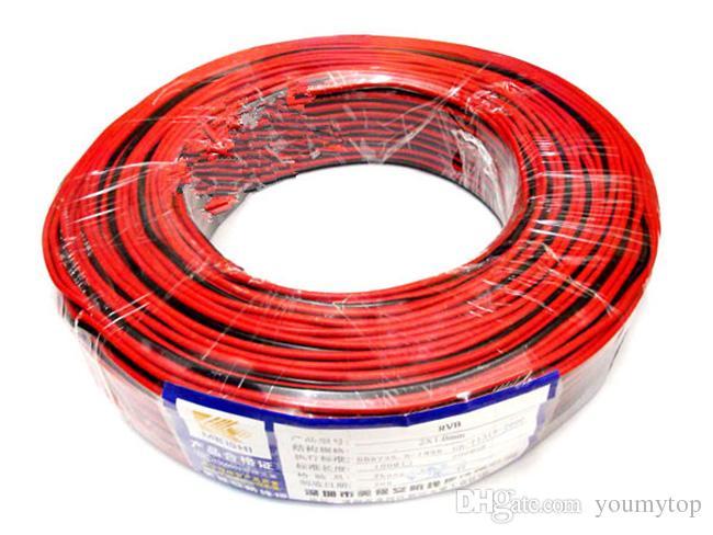 Fornecedor profissional LEVOU 2 pinos LED cabo de extensão de fio, fio de cobre, cabo de 2 pinos Fio para luz de tira de som de alimentação, frete grátis