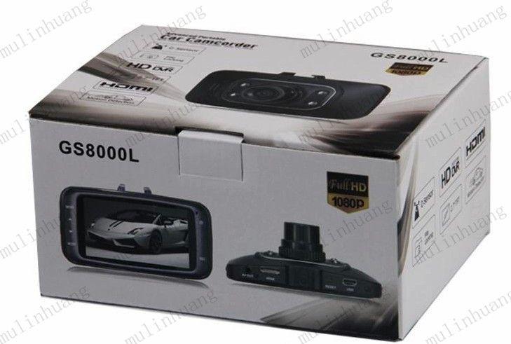 GS8000L HD1080P 2.7 pulgadas Coche DVR Registrador de vehículo Vehículo Cámara Grabadora de video Dash Cam G-sensor HDMI