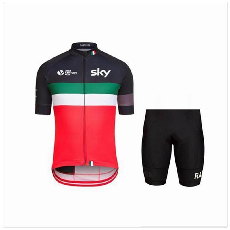 dfc171cbe Purchase Sky Cycling Jersey Set Short Sleeve With Padded Bib None ...
