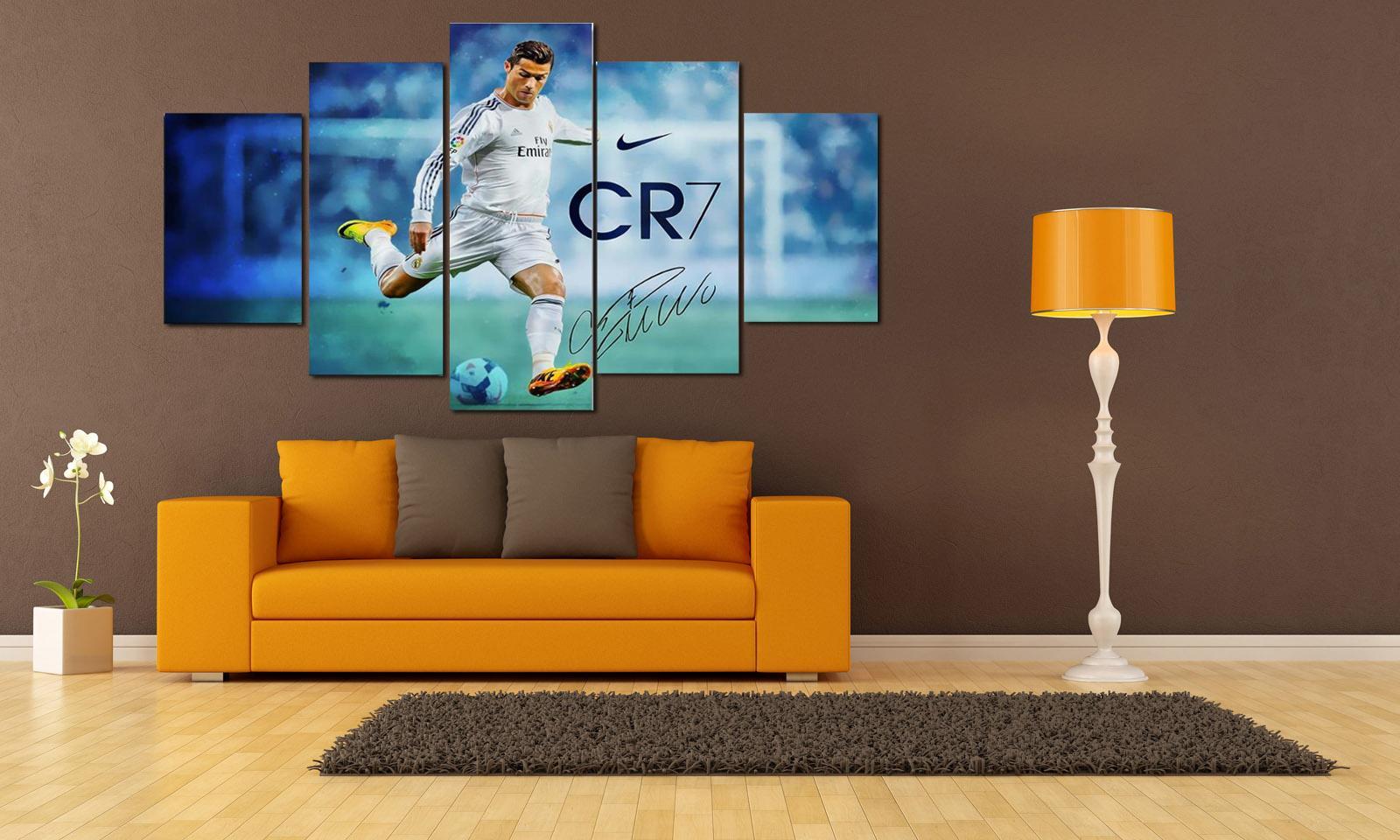 Real Madrid Ronaldo Fútbol Stella del calcio, 5 pezzi Home Decor HD Stampato arte moderna pittura su tela senza cornice / con cornice