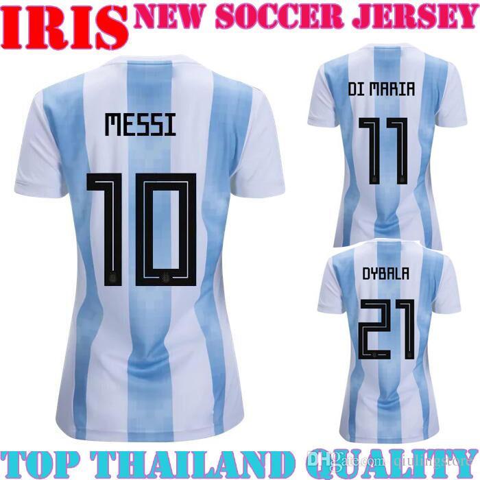 2018 world cup argentina long sleeve soccer jersey tevez home adult women player version away messi aguero di maria football jersey messi soccer jerse