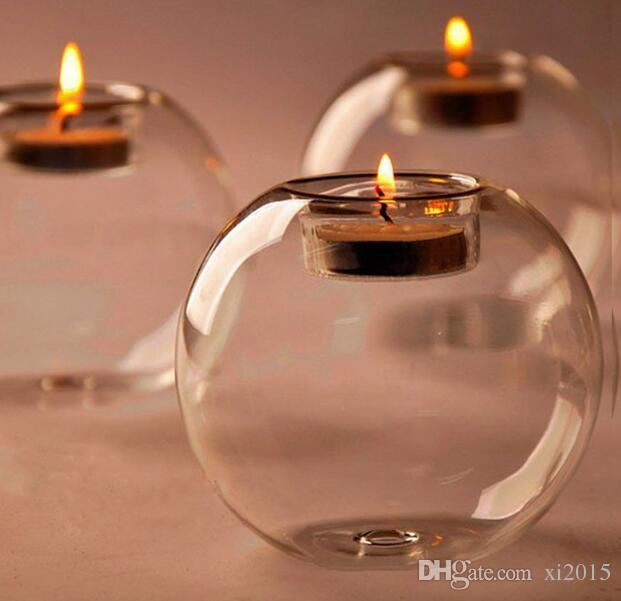 Fashion Hot Classic Crystal Glass Candle Holder Wedding Bar Party Home Decor Candlestick SL5088