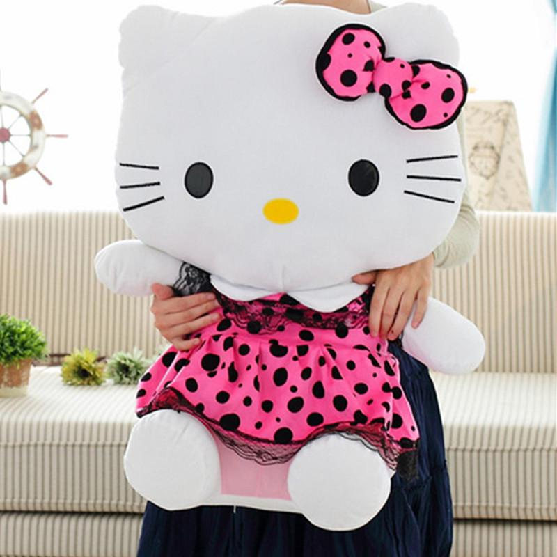 2018 70cm Pink/Hot Pink/ Blue Color Big Size Hello Kitty Plush Toys ...