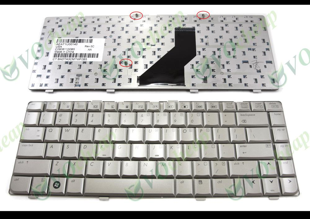 New Notebook Laptop keyboard FOR HP Pavilion dv6000 dv6100 dv6200 dv6300  dv6400 dv6500 dv6600 dv6700 dv6800 dv6900 Silver Grey US Version -