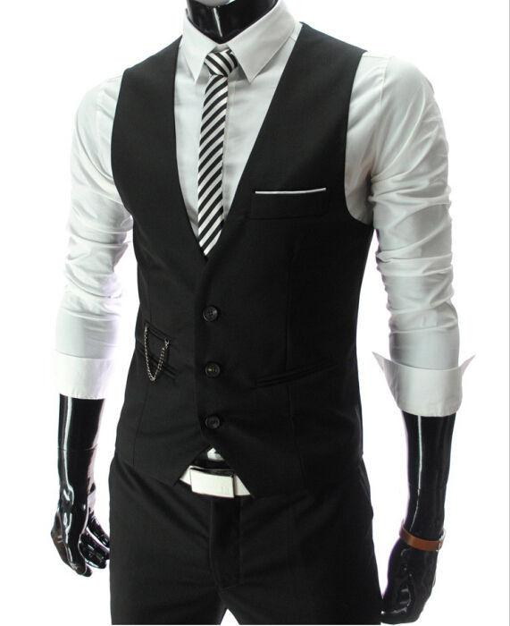 Black Mens Dress Vest