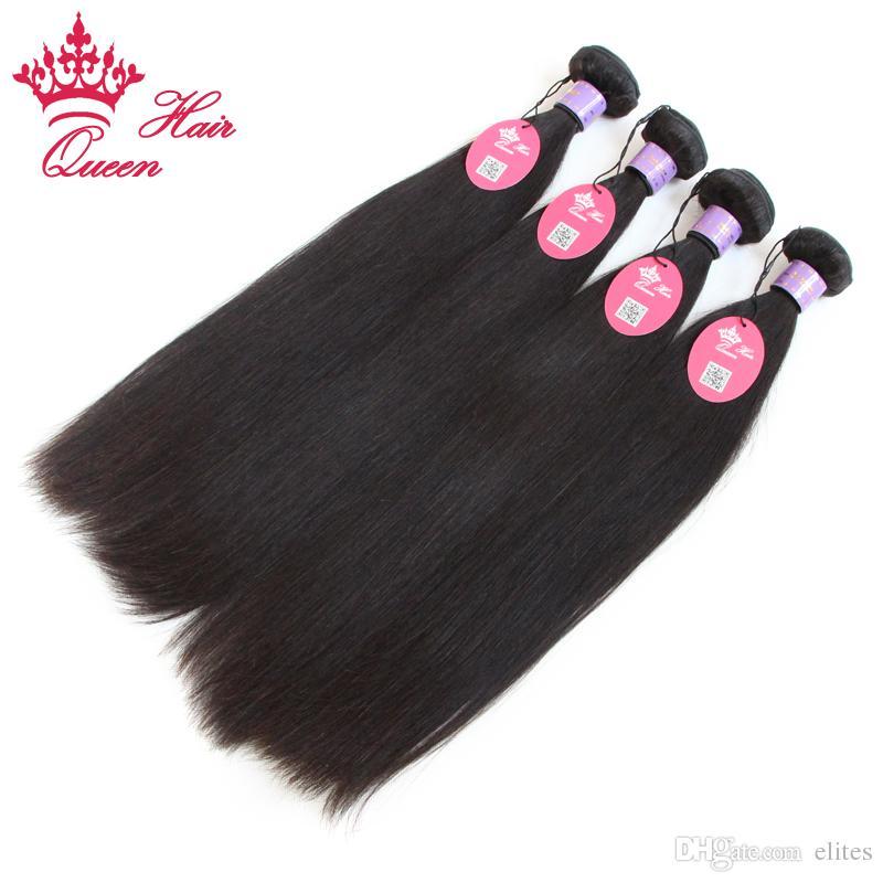Queen Hair Products Mix Length Virgin Malaysian Hair Straight Human Hair Weaves DHL Fast shipping