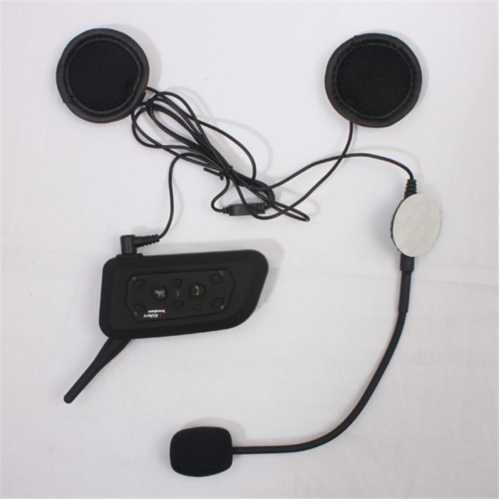 V6 Multi BT Interphone 1200M Motorcycle Bluetooth Helmet Intercom intercomunicadores interfones headset for 6 Riders waterproof