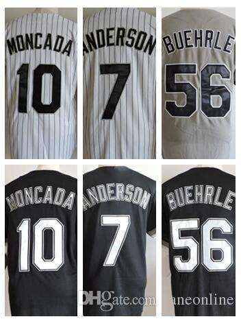 online cheap custom top mens 56 mark buehrle throwback jersey black white grey 10 yoan moncada 7 tim anderson jersey baseball jersey stitched m 3xl by