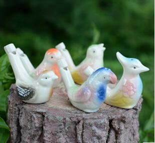 wholesale dropship new arrival water bird whistle clay bird ceramic Glazed bird whistle-peacock Birds Free Shipping