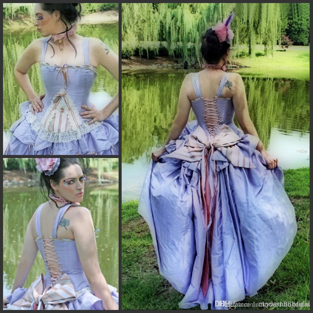 Discount Fantasy Fairy Medieval Gothic Wedding Dresses: Victorian Dresses Fantasy Wedding Dress Steampunk