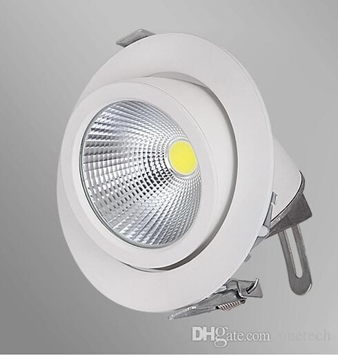 Exterior Garage Downlights: Epistar Cob Light Adjustable Retail White Downlight 15w