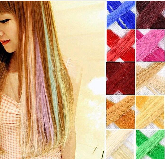 The high quality synthetic hair extension 20 bright solid colored see larger image pmusecretfo Gallery