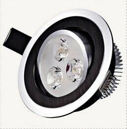 High Power LED Einbauleuchte 3x3W 9W LED Lampe 85-265V LED Beleuchtung Downlight Spot Licht mit Fahrer frei shioping