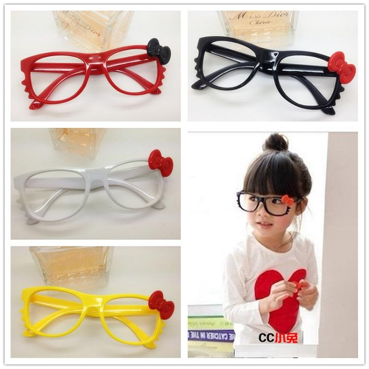 2018 2015 New Hello Kitty Cat Bow Children Colorful Eye Glasses ...