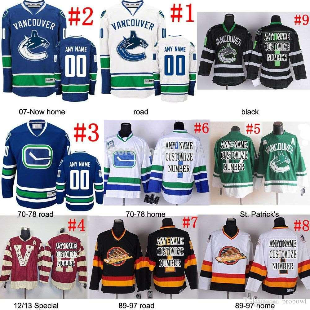 8ea94af66 2019 30 Teams Wholesale Vancouver Canucks Personalized Blank Custom NO.   Name Ice Hockey Jerseys Men Lady Kids Own Design From Probowl