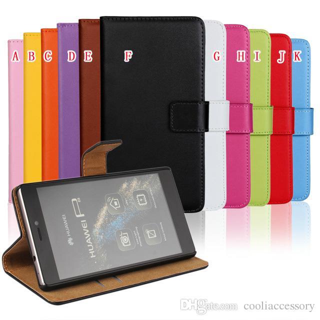 Para huawei p8 asus zenfone 5 zenfone5 genuíno verdadeiro verdadeiro carteira carteira casos de couro bolsa de cartão de crédito suporte holster titular colorido tampa da pele
