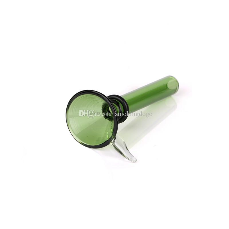 Smoking Dogo Wholesale Glass Slider Bowl Glass Slide Diameter 9mm for Glass Water Bongs and Pipes Green Color