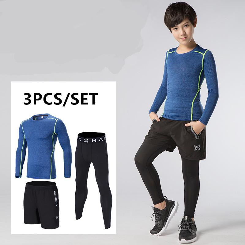 7bd1592d19e6a 2019 Wholesale 2017 New Kids Compression Running Sets Quick Dry Basketball  Sport Tights Suits Gym Fitness Leggings Set Running Suit From Yvonna, ...