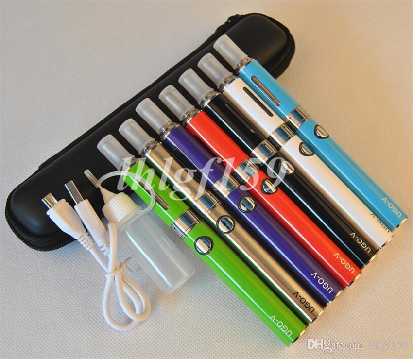EVOD/ego zipper kits MT3 evod gift package evod ugo-v starter kit with usb 650\900mah ugo-v battery evod atomizer E-cigarette Kits MT3 kits