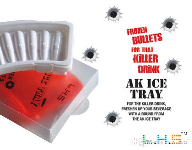Luo Hasi 10 rounds bullet ice lattice ice mold creative freezer stereoscopic ice cube silicone ice tray creative ice box silicon ice cream