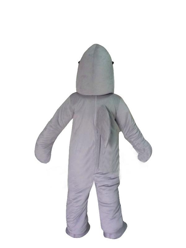 Homens Trajes Cosplay Moda Confortável e Respirável Traje Tubarão Adulto traje da mascote Tamanho do Tubarão Traje