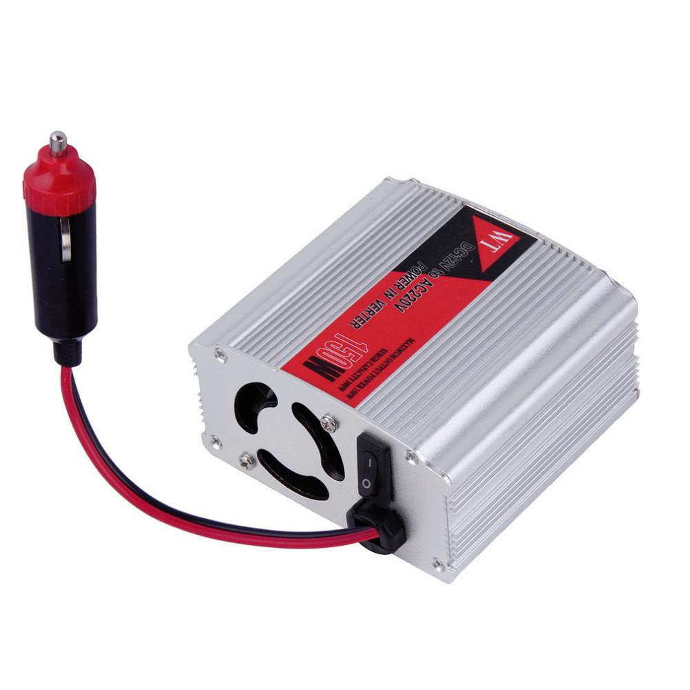 Free shipping 12v 220v dc to ac car power inverter adapter 150w vehicle mounted inverter 12v to 220v wholesale