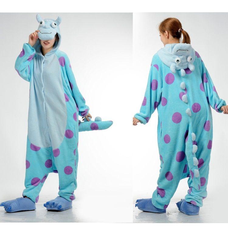 c980fdb7d8ff 2019 Sulley Monster Animal Onesies Pajamas For Adult Onesies Costumes Pyjamas  Funny Kigurumi Animal Costumes Anime Cosplay Costumes From Mr0michael0y