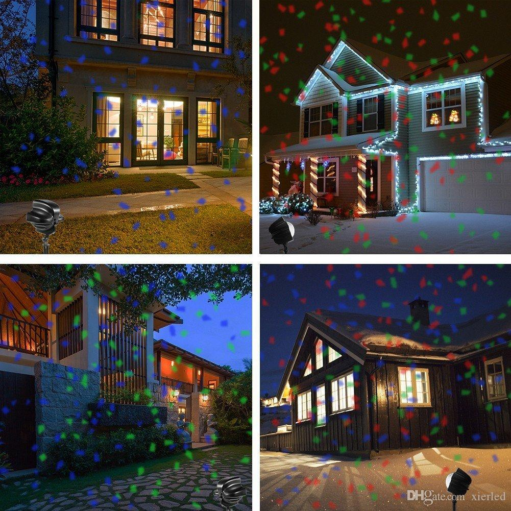 Christmas Projector Lights.2019 Christmas Projector Lights Remote Control Rotating Waterproof Sparkling Landscape Projection Light For Christmas Party Decoration Lighting From