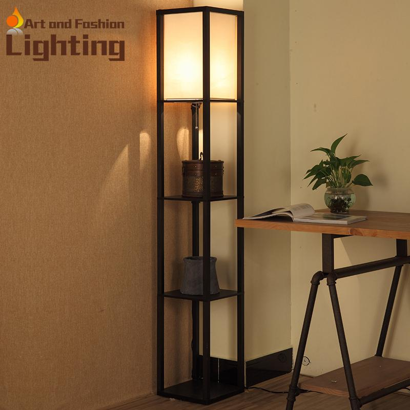 2018 Creative Commodity Shelf Wood Floor Lamp Art Practical Led ...