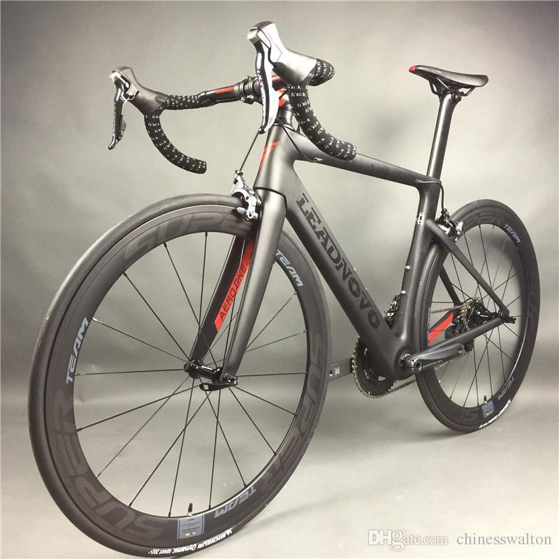 Leadnovo Complete Full Carbon Fiber Road Bike Racing Cycling T800 Carbono Fibre