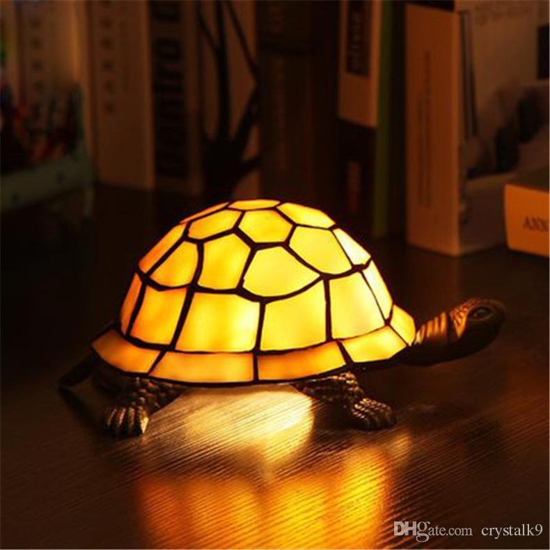 2019 Creative Retro Tortoise Table Lamp Vintage Garden Style