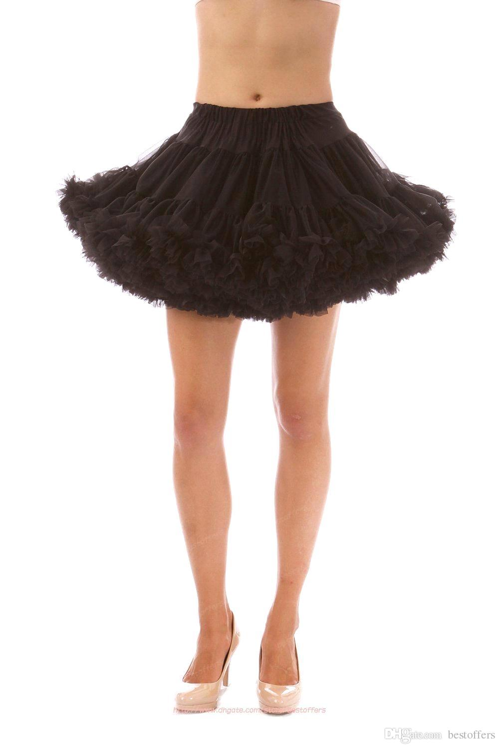 Soft Tutu Petticoat No Hoop Tulle Wedding Ball Gown Short Mini Gown ...