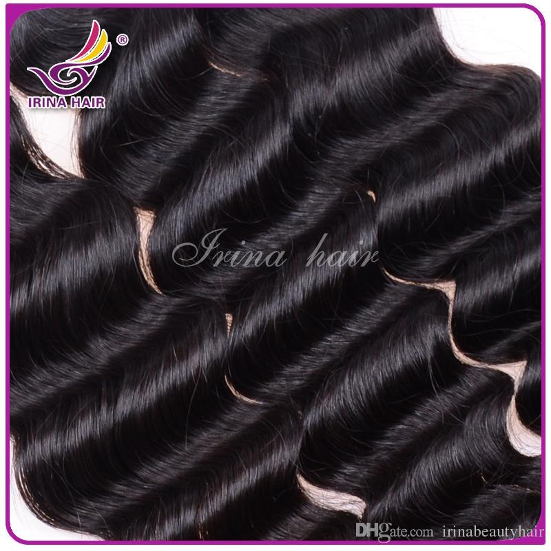 50٪ ٪ dyeable بيرو الماليزية المنغولية منتجات الشعر البرازيلي عذراء الشعر موجة عميقة 3 أو 4 حزم لكل لوط الشعر البشري نسج لا تشابك