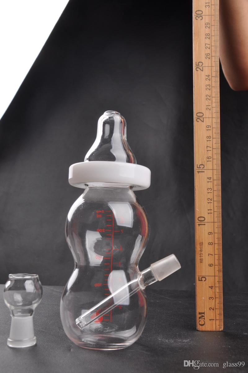New Arrival baby bottle mini glass bongs In Stock glass water pipe with dome and nail 14 mm joint