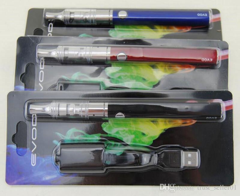2016 Ecigs eGo Dry Herb EVOD K3 Blister Kit K3 Распылитель Vape ручки Стекло Испаритель EVOD 650/900/1100 мАч Аккумуляторные стартовые комплекты