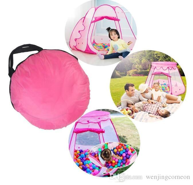 Large Children Kids Play Tents Girls Boys Ocean Ball Pit Pool Toy Tent Princess Castle Play TentIndoor & Outdoor Use Playhouse