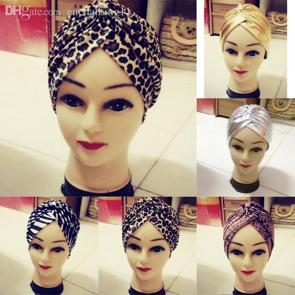 Wholesale-Fashion Soft Indian Style Yoga Headwrap Cap Turban Hat Cloche Chemo Hair Cover