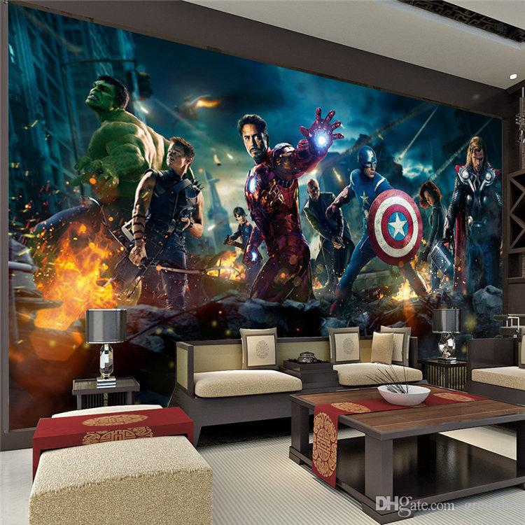 The Avengers Wall Mural Hulk Captain Americ Thor Photo Wallpaper Movie  Poster Custom Wall Mural Kids Room Nursery Sofa Tv Background Wall Hd  Wallpapers ...
