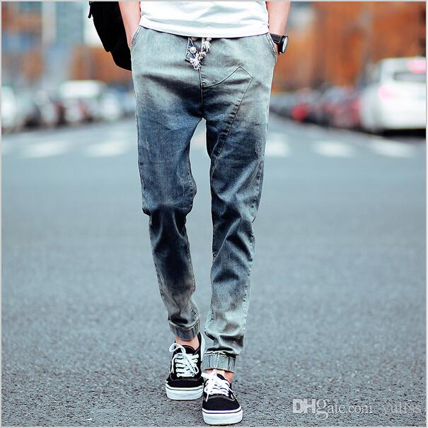 2017 Men Jean Jogger Crime Fashion Leisure Wear And Sports Wear ...