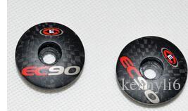 EC90 carbon fiber bicycle parts headset top cap mtb bike washer or stem cap carbon road cycling fork cover 6g matte