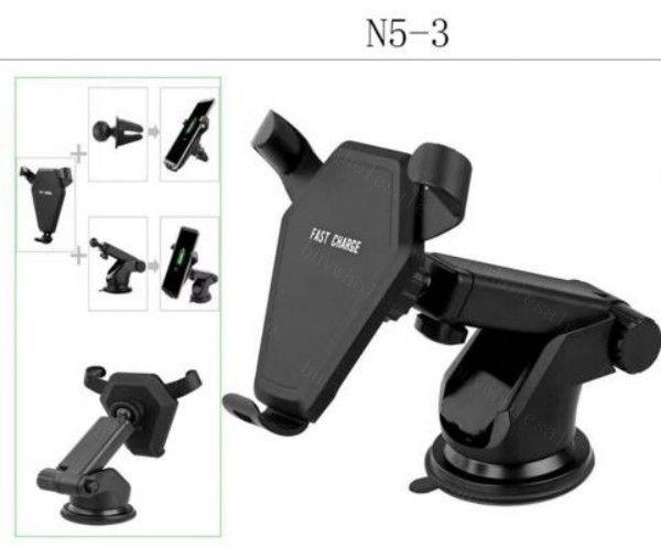 Ventilador de soporte del coche Cargador inalámbrico para iPhone X Samsung s7 S8 Note 8 Adaptador 9V / 1.67A Soporte rápido de carga rápida