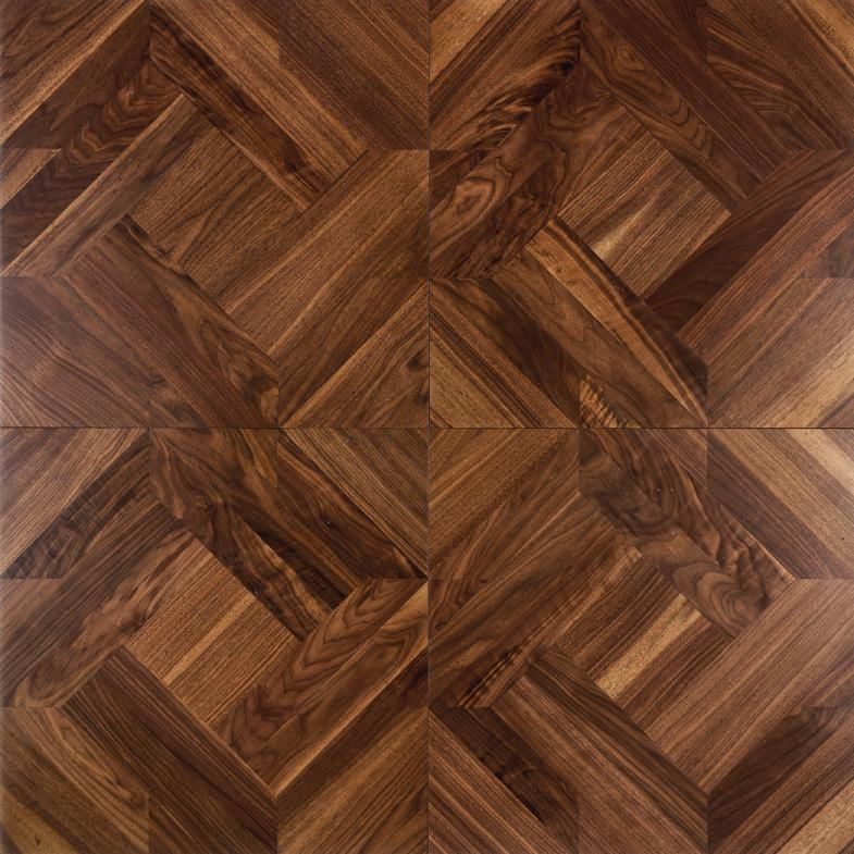 2018 Solid Wood Floor Parquet Flooring Polygon Decorative Burmese Teblack Walnut Birch Oak Merbau Natural Oil From