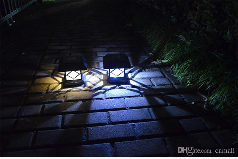 LED Solar Light Post Llights Outdoor Head Lamp Wooden Solar Garden Light Fence Light Waterproof LED Wall Lamp Solar Street Lamps